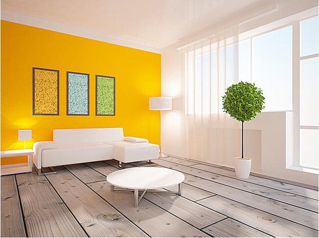 万达小区现代简约三居室120平米